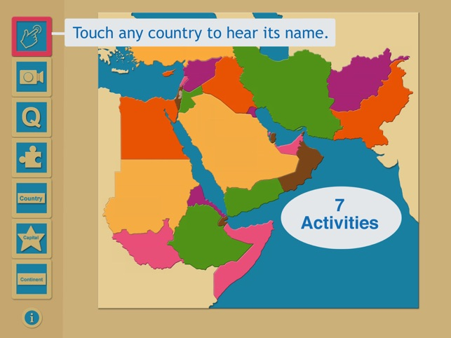 Middle East Map Activities.Iworld Middle East Region On The App Store