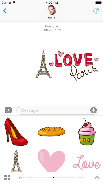 French Stickers for iMessage - Bonjour Paris