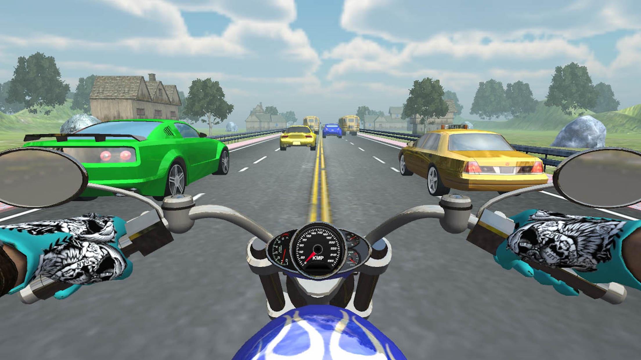 Real Bike Traffic Rider Virtual Reality Glasses Screenshot