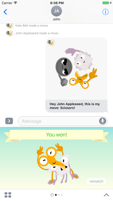 Rock-Paper-Scissors: Game for iMessage screenshot three
