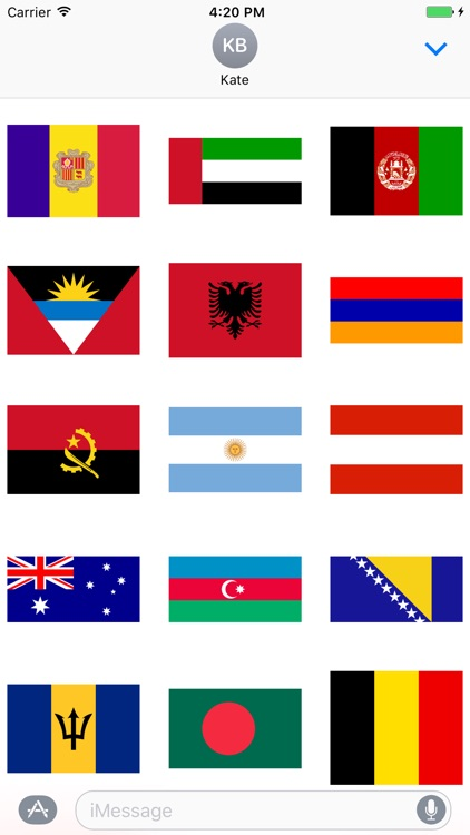 All Flag Stickers