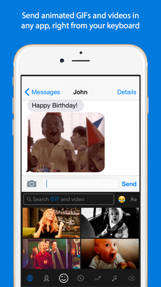 Screenshot for GIF Keyboard in Denmark App Store