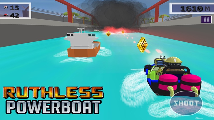 Ruthless Power Boat - 3D Shooting & Racing Game screenshot-4