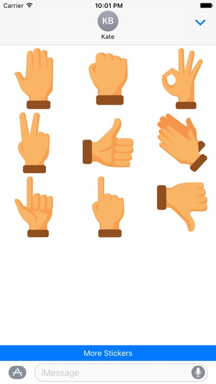 Hand Sign Stickers