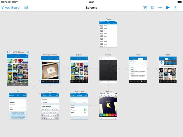Appcooker prototyping mockup studio for ios on the app store ipad screenshots malvernweather Images