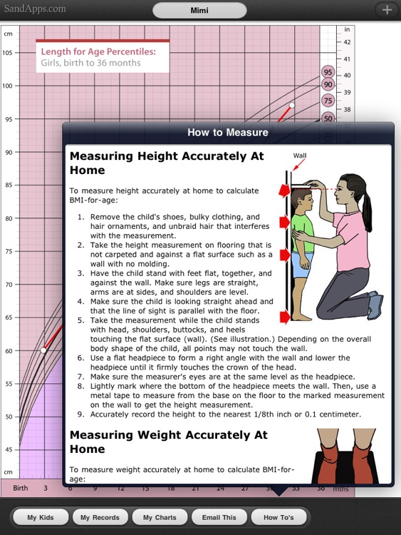 Growth Charts for Babies, Children, Infants screenshot-3