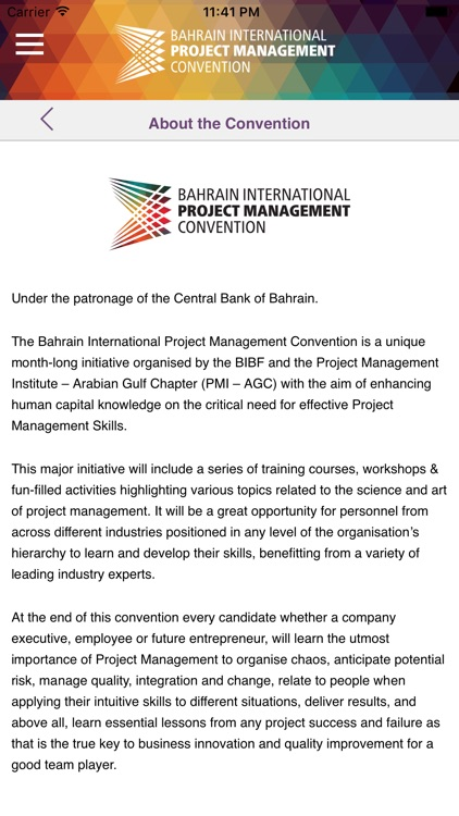 Project Management Convention by Bahrain Institute of Banking and