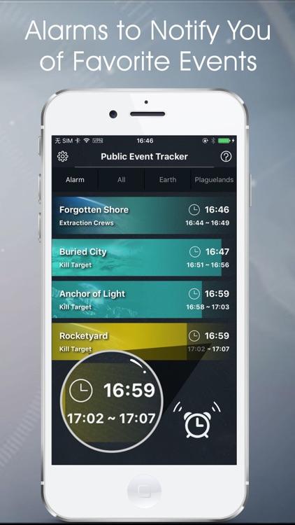 Public Events Tracker - companion app for Destiny