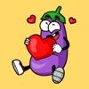 Eggplant Stickers