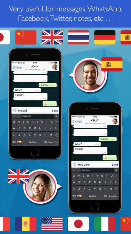Keyboard Translator Simple ( your text translator to/from English, Spanish etc ... ) screenshot-1