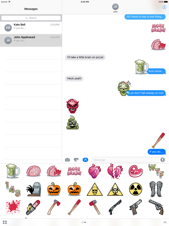 Ipad Screen Shot The Texting Dead! 2