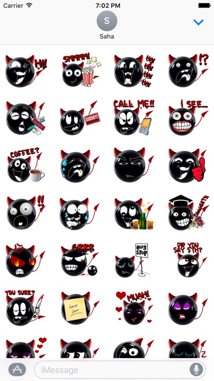 Red Devils Stickers for iMessage