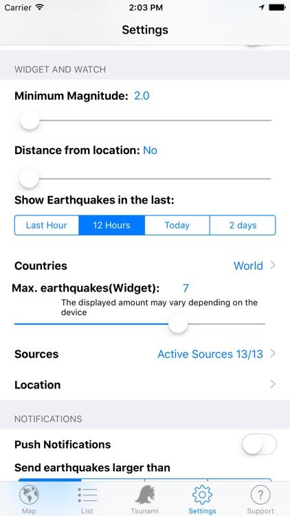Quake Spotter - Map, List, Widget and Alerts screenshot-4