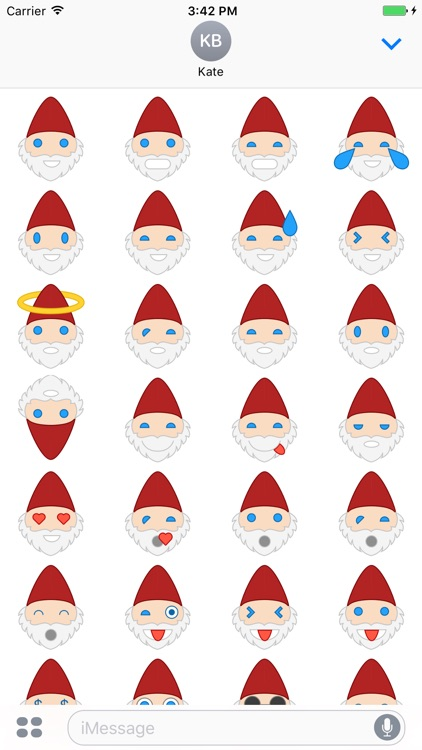 Santa Emoji Stickers