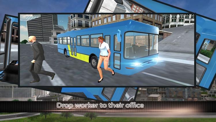 Modern city bus driver 3d : free simulation game screenshot-3