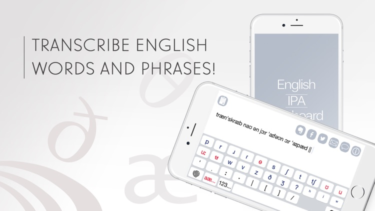 English Phonetic Keyboard with IPA symbols