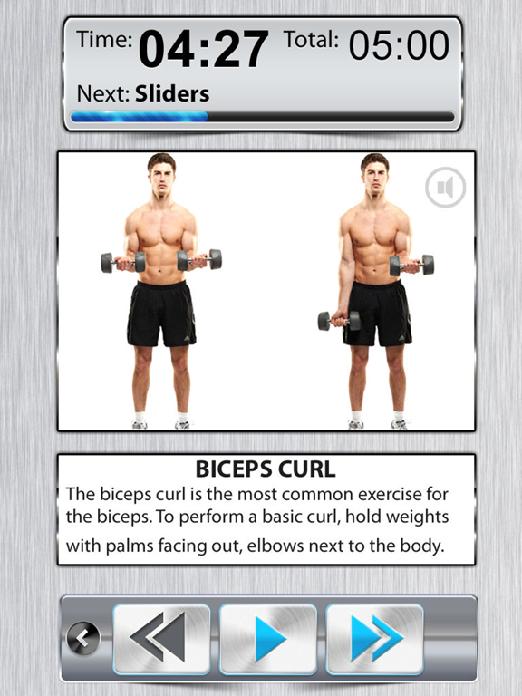 Arm Workout X FREE - Bicep Tricep Exercises For BodyBuilding screenshot