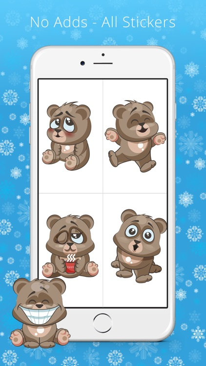 Cuddlebug Teddy Bear Emoji  -Stickers