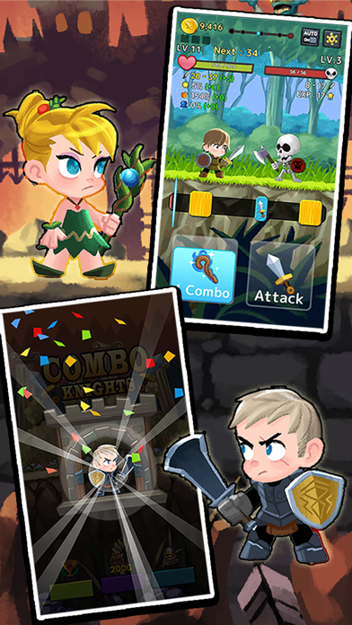 Combo Heroes: Knight vs. Monster Age Super League screenshot two