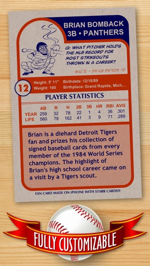 Baseball Card Maker Ad Free Make Your Own Custom Cards