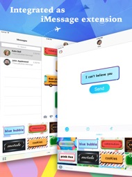 FancyBubble - Text and Emoji Themes for iMessage ipad images