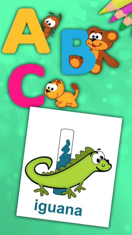 ABC Alphabet - Coloring book to learn letters