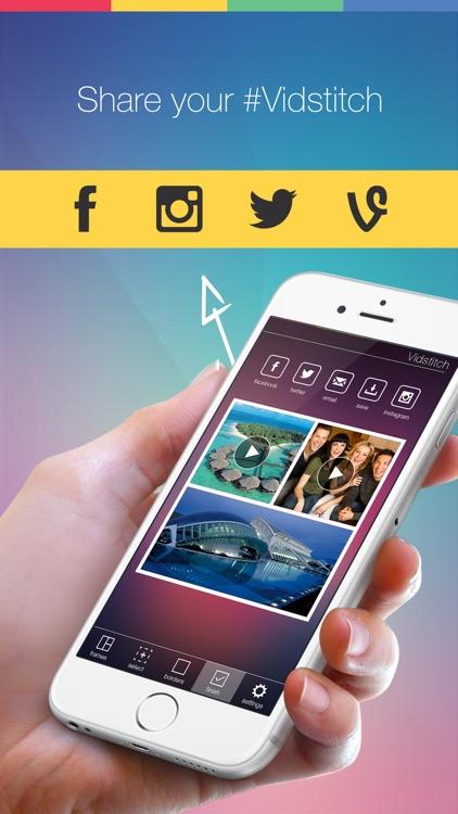 Vidstitch Pro for Instagram - Video Frames Collage screenshot-3