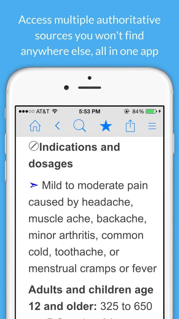 Medicine Dictionary and Prescription Drug Guide Screenshot