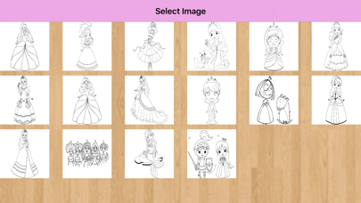 Princess Coloring Pages – Coloring book screenshot one