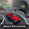 マルチレベルスーパーマーケットバレー駐車場の3D:ショッピングモールで高級スポーツ車を運転