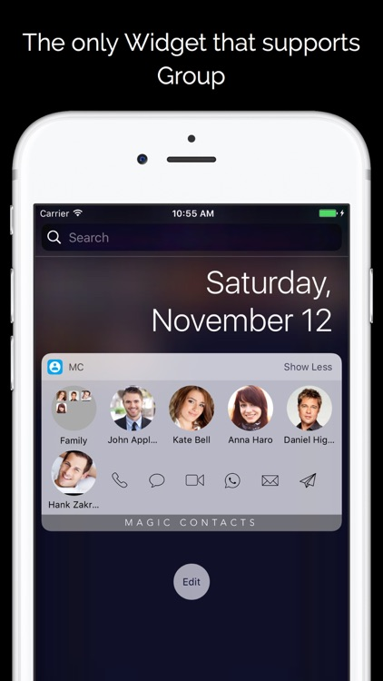 Magic Contacts with Notification Center Widgets