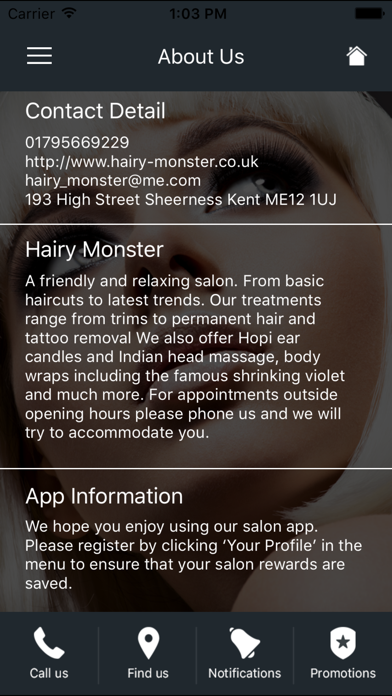 Hairy Monster Hair and Beauty screenshot two