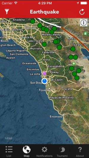 Earthquake lite realtime tracking app on the app store gumiabroncs Gallery