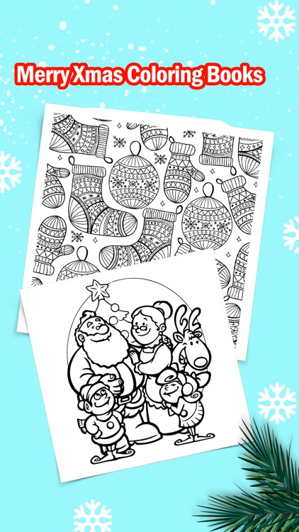 Merry Christmas Coloring Book for Kids: Xmas Games screenshot-1