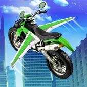 Flying Motor Bike Stunt 3D; Futuristic Simulator