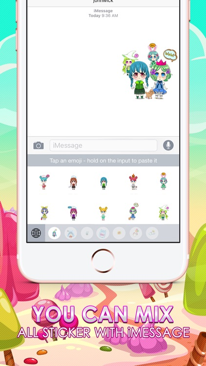 Anime Girls Emoji Chibi Stickers Themes ChatStick