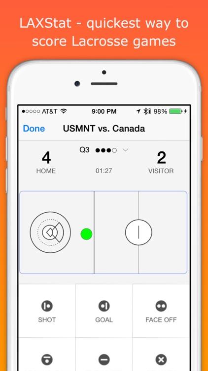 LAXStats - Lacrosse live scoring & team stats screenshot-0