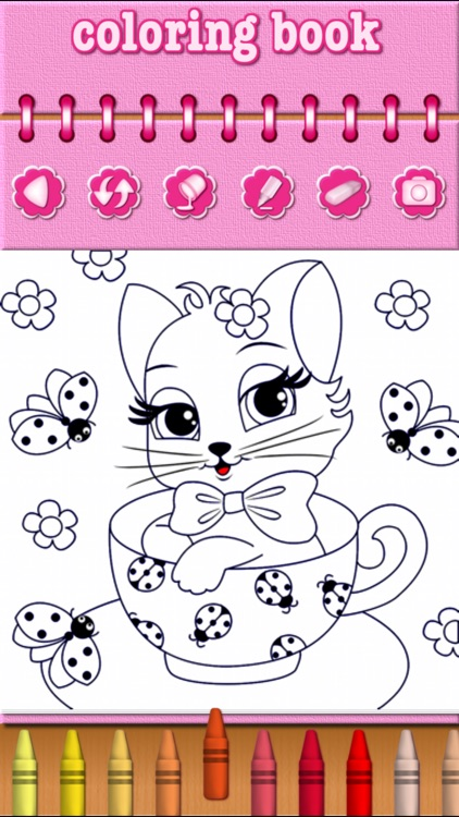 Cat Kitty Kitten Coloring Book