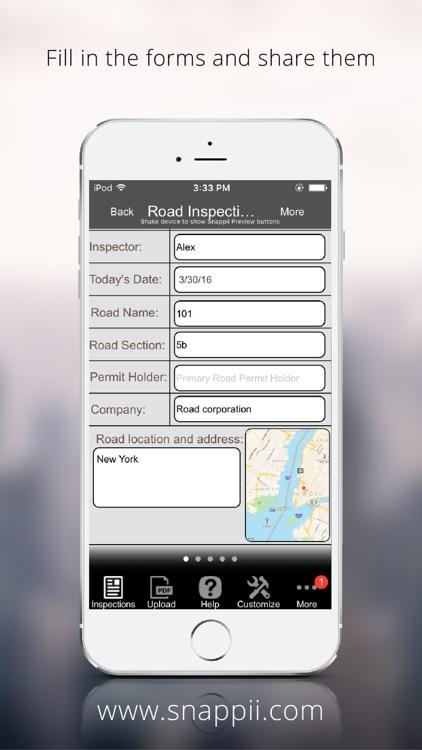 Road Inspection App