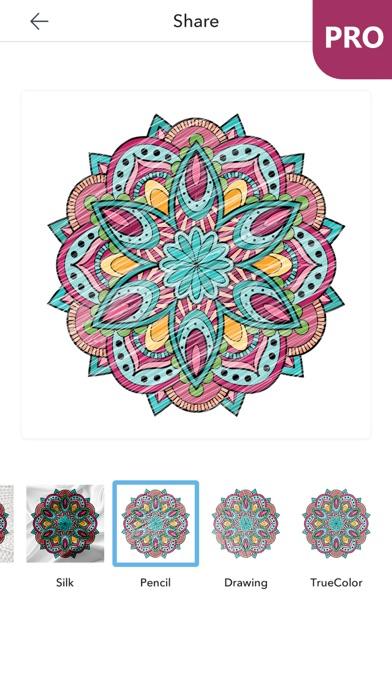 マンダラ塗り絵 無料 PRO : おとなのぬりえ 本 - 曼荼羅 塗り絵 塗り絵アプリのおすすめ画像2