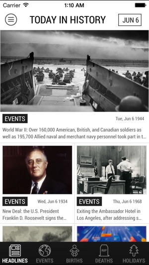 Relive Iconic Historical Events with the Today in History App Image