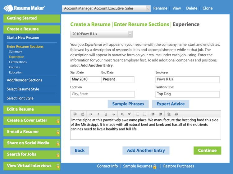 Resume Maker Free By Individual Software Inc