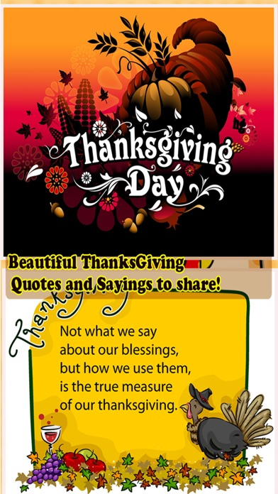Happy Thanksgiving Day Greetings Card Maker screenshot one