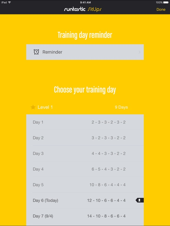 Runtastic Sit-Ups Trainer PRO Screenshots