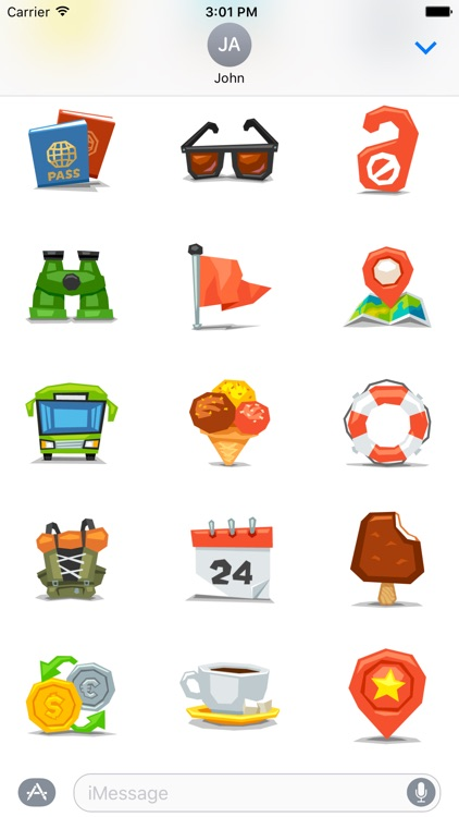 Travel - Stickers for iMessage screenshot-3