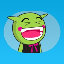 Tiny Orc - Green Fantasy Monster Animated Sticker