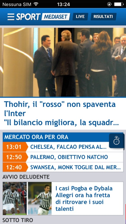 SPORTMEDIASET screenshot-0