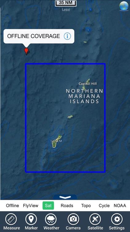 Marine : Guam Island - GPS Map Navigator screenshot-4