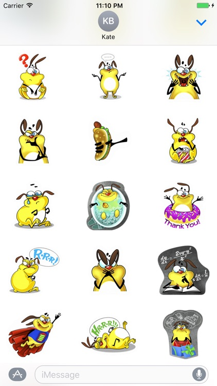 Crazy Dog - Cutest dog stickers for iMessage