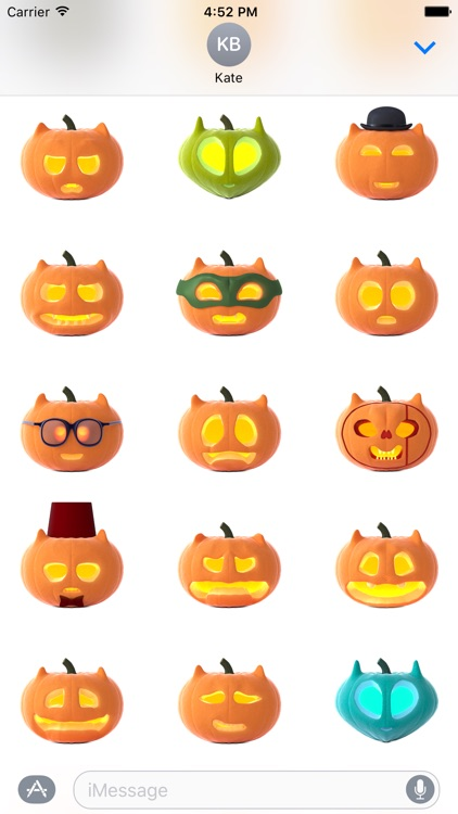Cat O'Lanterns - Halloween Cat Pumpkins stickers screenshot-1